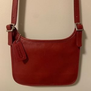 Vintage Coach 9142 Leather Hipster Crossbody Bag